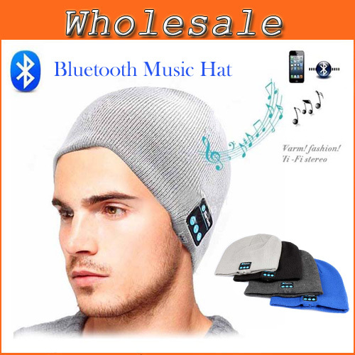 New Bluetooth Earphone Hat for iPhone Samsung Android Phones Men Women Winter Outdoor Sport Bluetooth Stereo Music Hat Wireless(China (Mainland))