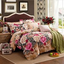 100% egypt Cotton Bedlinen Luxury bedclothes King Queen double size bedcover Doona duvet cover sheet pillowcase 4pc bedding set(China (Mainland))