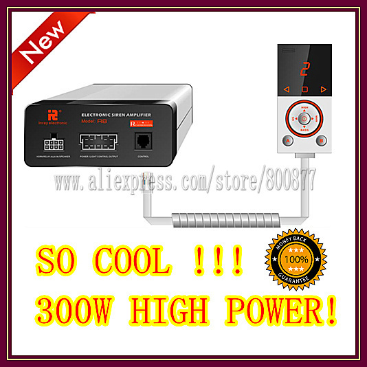 2013 New!  Fashion Design!  300W High Power Siren(R8) /12 tones/ with Microphone/2 light switches (Siren only)