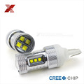 2x High Power 80W CREE Chip T20 7443 7440 LED Bulbs For Car Reverse Lights Signal