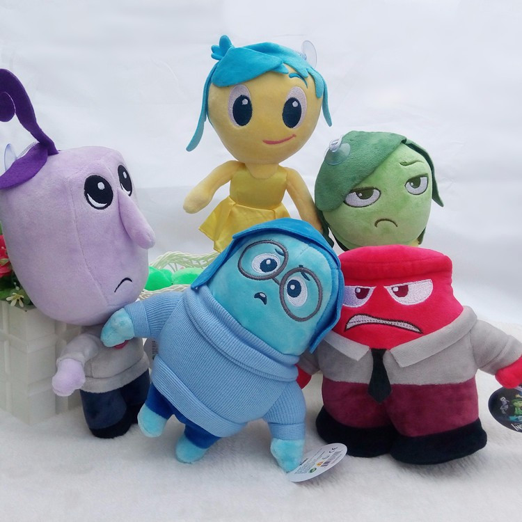 Plush toys  Inside out Anger Joy Fear Disgust Sadness Stuffed  doll