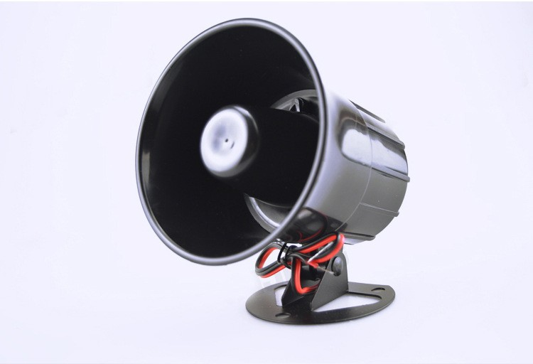 Anti-theft Alarm Horn DC 12V Wired Loud Alarm Siren Horns Outdoor With Metal Bracket For Home Security Protection System ES-626 (5)