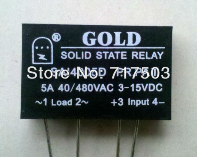 Freeshipping PCB small solid state relay single-in-line SAI4005D DC to AC 5A SSR input 3-15v or 15-25v output 40-480V<br><br>Aliexpress