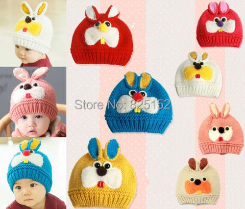 1pcs Toddler Infant Child Girl Boys Crochet Rabbit Bunny Kids Baby Bonnet Hat Cap Beanie Hair Accessories(China (Mainland))