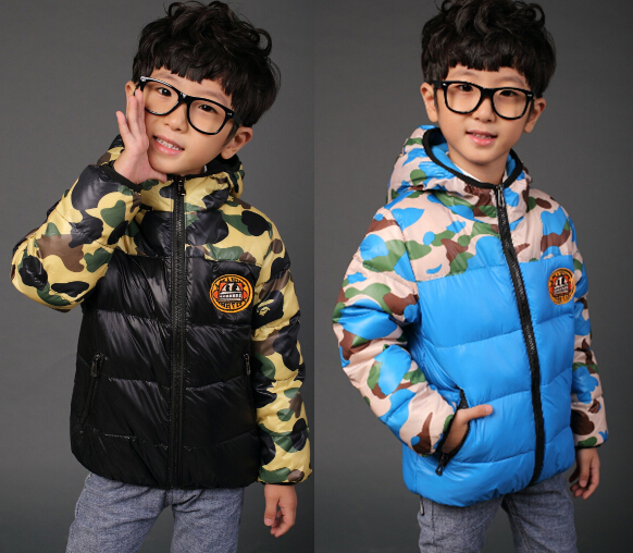 2015 new children jackets outwear for boys girls winter kids coats jacket kids boy thick coats clothing camouflage uniform coats(China (Mainland))