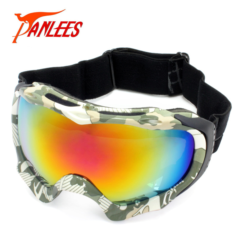 Hot Sales Panlees Snow Goggles Mirrored Snowboard Ski Googles Anti-fog Dual Lens Anti-UV400 - Guangzhou Jiahao Glasses Factory store