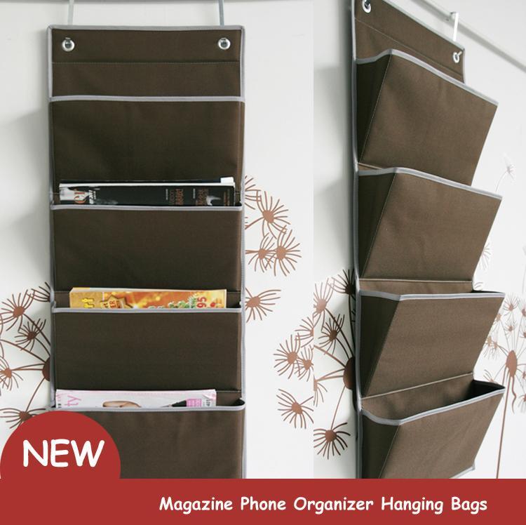 New Oxford Fabric Bedside Pocket Storage Bag Hanger Rack