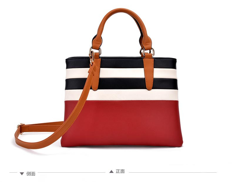 2015 New Fashion Female Handbag Red And Gray Two Colors