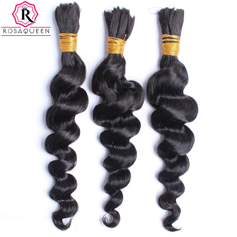 8A Mongolian Loose Wave Virgin Hair Human Braiding Hair Bulk 10-28″ Loose Wave Human Braiding Hair Rosa Queen Hair Products