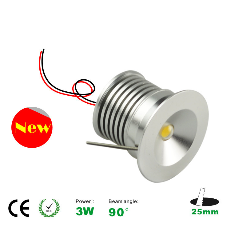 15pcs / lots 3W cabinet light free shipping the 3W led lamp light ,3W led downlight  25mm cutting,CE and ROHS 3 year warranty<br><br>Aliexpress