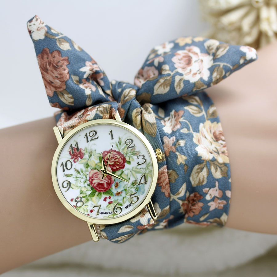 women girls watches watch getsubject bracelet fashion fabric sweet cloth aeproduct products wristwatch flower dress ladies