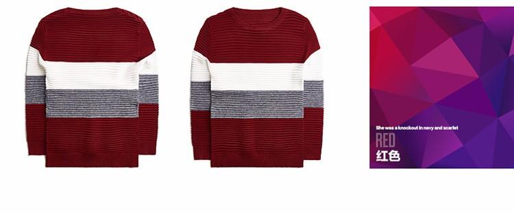 Скидки на Корейский Осень-Весна baby boy свитер полосы Британский Стиль моды тепло дети база трикотаж повседневная комфорт подросток одежда