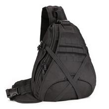 2017 New Men 1000D Nylon Military Travel Water Bottle Sling Day Back Pack Chest Shoulder Messenger Bag(China (Mainland))