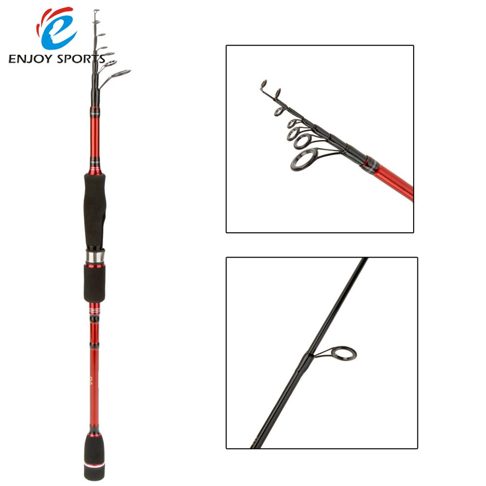 New 2.1M 6.89FT Portable Telescopic Carbon Lure Fishing Rod Outdoor Travel Easy Install Spinning Fishing Pole(China (Mainland))