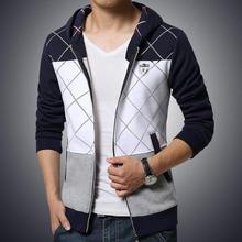 plaid casual sport sweatshirts men tracksuit men slim fit male hoodies men brand  M-5XL sudaderas hombre 2016 polerones hombre(China (Mainland))