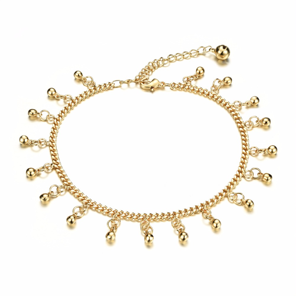Fate Love Free Shipping Woman's Bell Pendant Anklets Classical 18K Gold Plated Cute Fashion Jewelry Ankle Bracelet Cheap Price(China (Mainland))