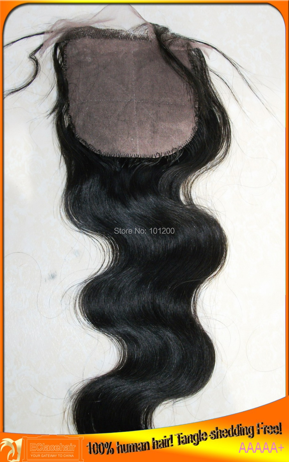 Medium Brown Silk,Free Shipping 4x4 Indian Virgin Silk Bas Hair Top Lace Closure Free,Middle,Three Parts(China (Mainland))