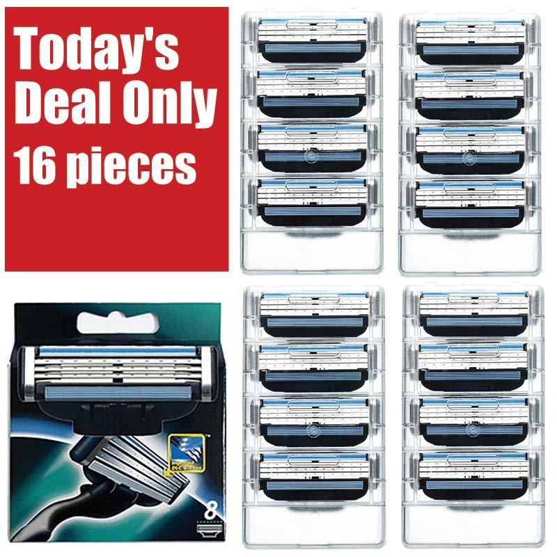 [ 16pcs/pack ] Brand razor blade High Quality fit giletts, shaving razor blades for Mache 3,for gilett Original mache 3 for man(China (Mainland))