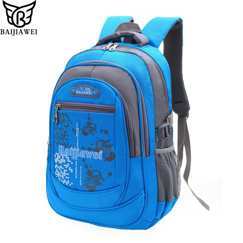 BAIJIAWEI 2016 New High Quality Child School Bag Children School Bags Kids Backpacks Leisure Waterproof Bag Double Shoulder Bags(China (Mainland))