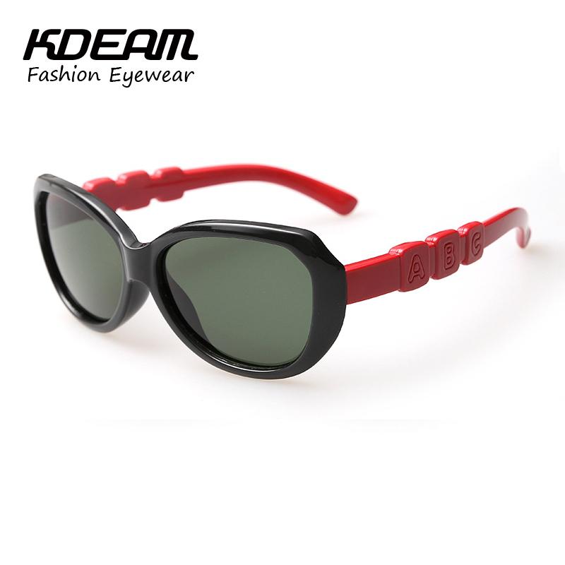 High Quality KDEAM Kids Polarized Sunglasses Super Light TR90 Sun glasses Baby Sun-shading Butterfly Sunglass lunette de soleil(China (Mainland))