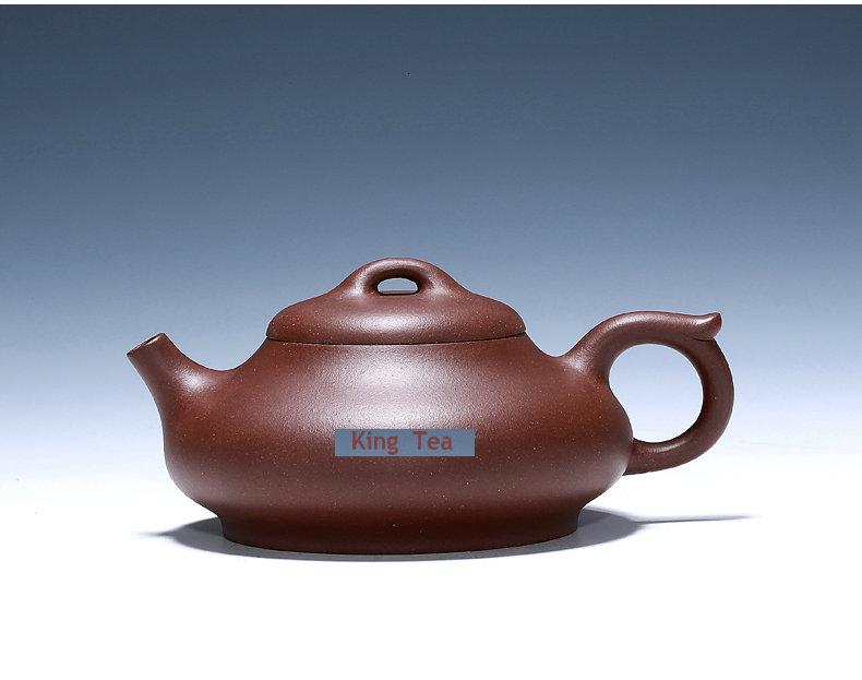 *King Tea* YiXing PanRuo Teapot ZiSha Purple Clay No Drawing ShiPiao 155ml Multi Holes for GongFu, , Oolong, TieKuanYin tea(China (Mainland))