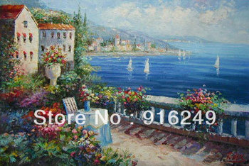 Mediterranean Landscape Painting   on Canvas Discount Sell Oil Paintings