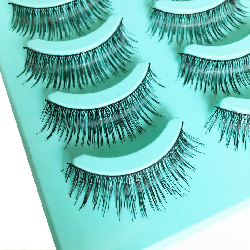 5Pair Girl Soft Natural Long Beauty Makeup False Eyelashes Party Long Eyelash Extensions Fake Eye Lashes Women Maquiagem(China (Mainland))