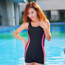 New Swimwear Women's Sport Tops And Short Swim Set Casual Female Boxer Modest Swimsuit Ladies Tankini Bathing Suit WO-HZB007