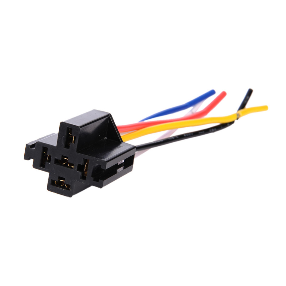 Pre Wired 5 Pin Relay Mounting Base Socket Holder For Adding Car Stereo Alarm System Remote Start fog Lights Truck Release(China (Mainland))