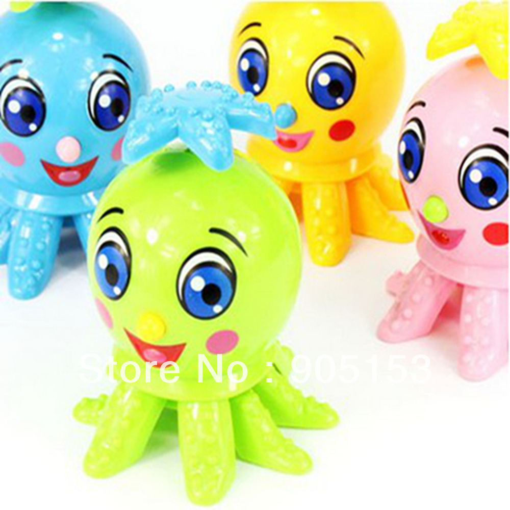 1 Colors Wind Up Cartoon Octopus Clockwork Spring Toy Xmas Gift Kid Child Party Favor(China (Mainland))