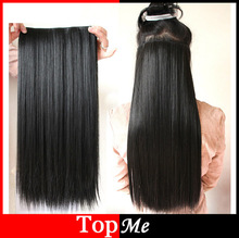 Women Hair Extension Black Blonde Straight 60cm Long High Tempreture Synthetic Hair Hairpiece Discount Woman Hair Extensions(China (Mainland))