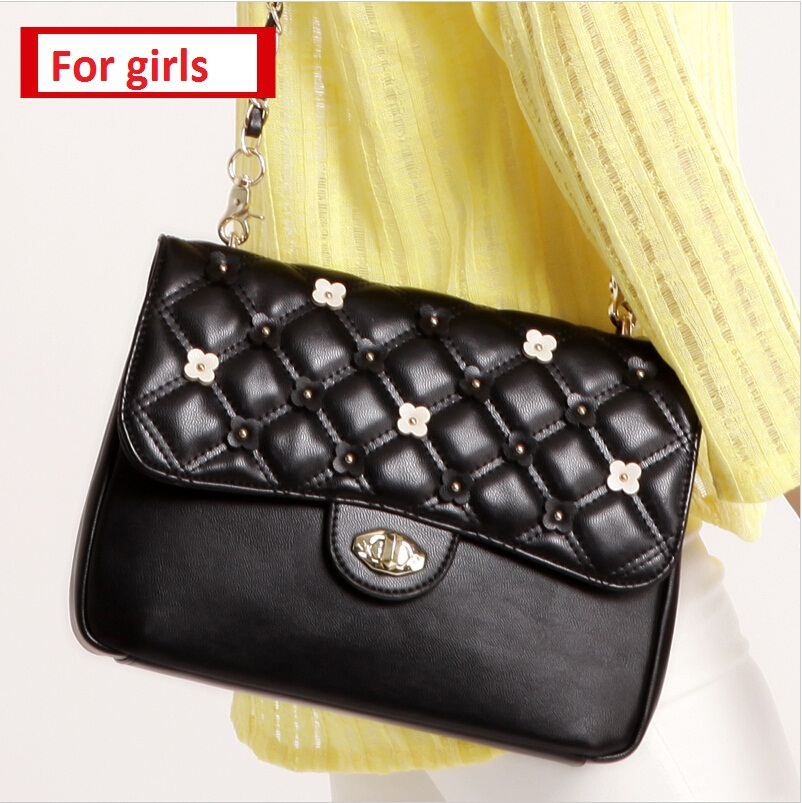 2015 Black envelope bag preppy style satchels women messenger bags women crossbody leather bag small bags for girls