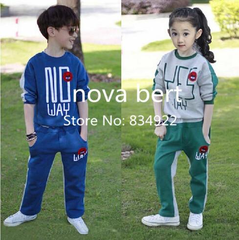 Children clothing set fall sports apparel sportswear boys girls classes sweatshirt free shipping(China (Mainland))