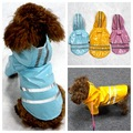 Colorful Dog Raincoat With Safety Reflective Stripe Pet Rain Jacket Dog Waterproof Clothes for Dog Rain