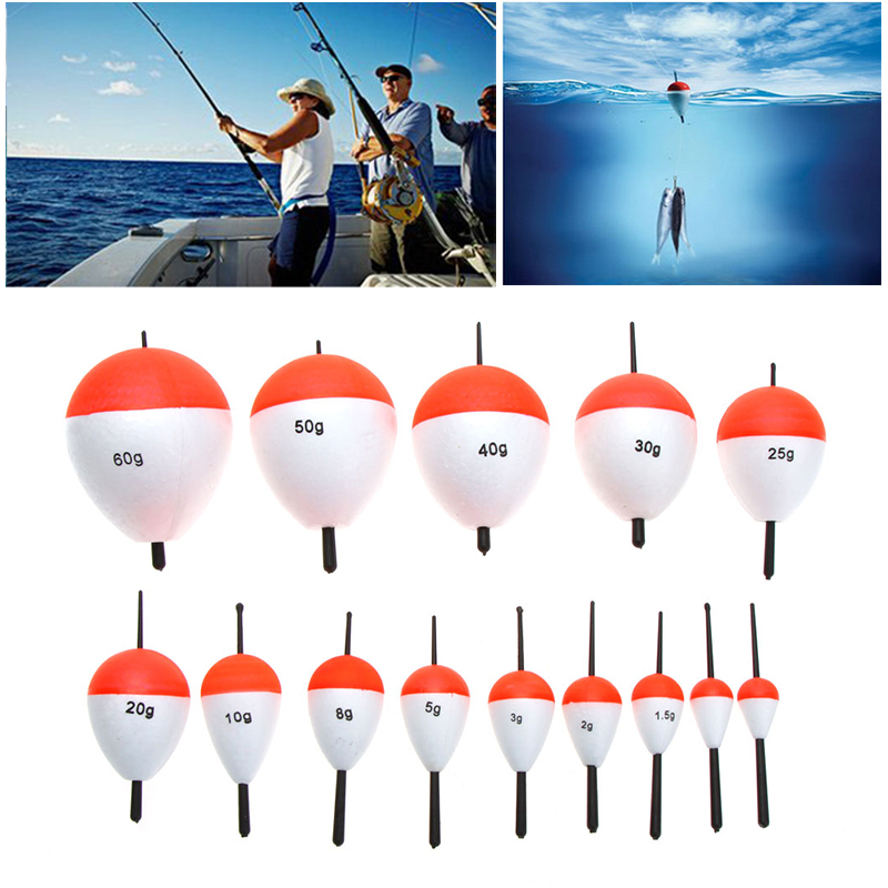 15Pcs/Set Polystyrene Carp Fishing Alarm Floats with Sticks Professional Fish Float Outdoor Sea Fishing Angling Accessory(China (Mainland))