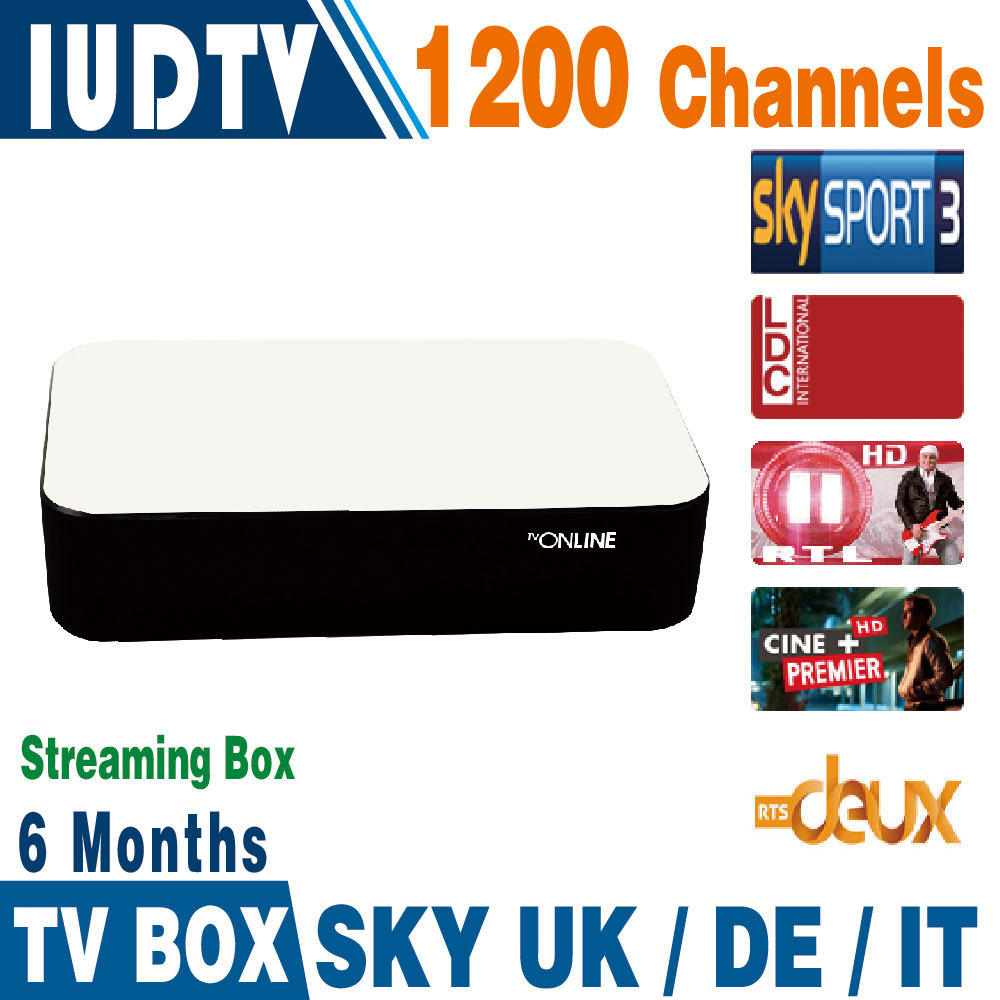 Mag 254 Mag 250 Streaming IPTV Box 6 Months 1200+ Italy Spanish IPTV Channels Server Inside Streaming Box Streaming Media Player<br>