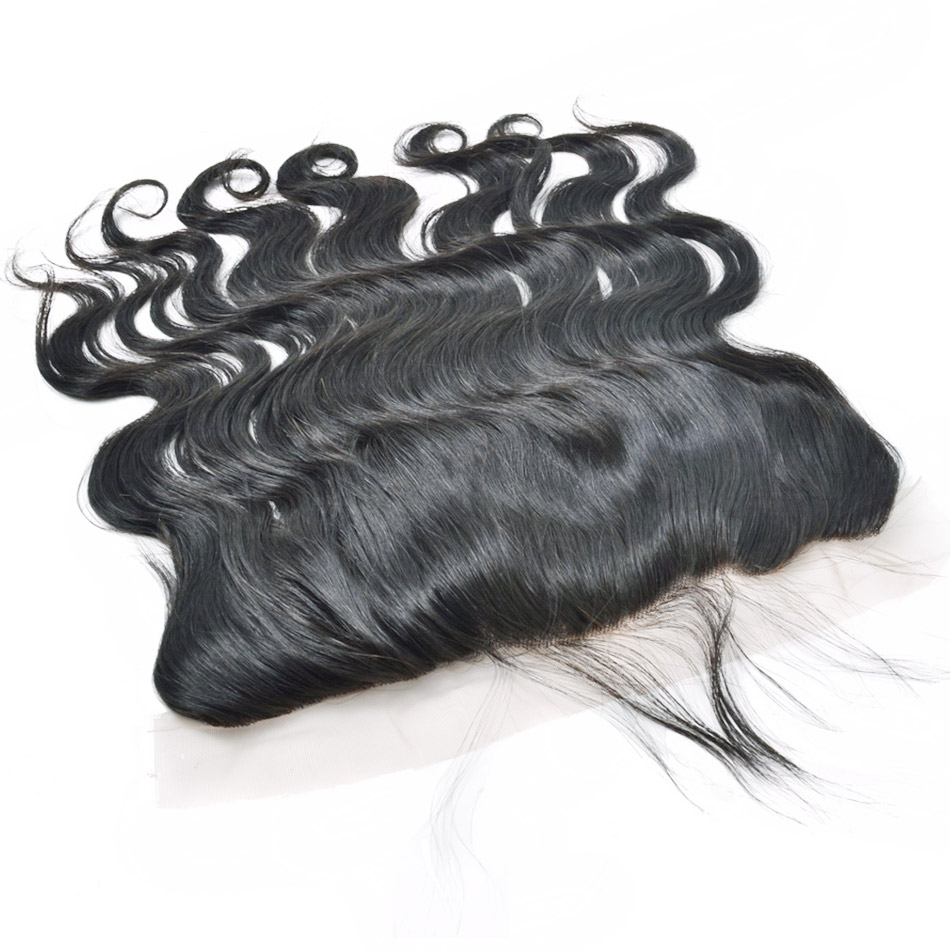 Фотография Best Quality Body Wave Frontal Malaysian Virgin Hair ear to ear Lace Frontals with Baby Hair Free Middle Part Lace Frontal Weave
