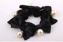 Cuhair(tm)  pearl degin top elastic 1pcs  women girl ponytail holder hair tie rope rubber accessories