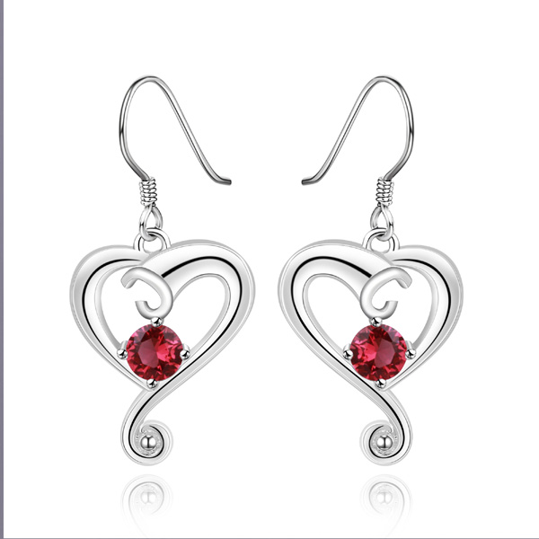 Free Shipping Reasonable Price extra long dangle earrings love knot earrings cubic zirconia earrings(China (Mainland))