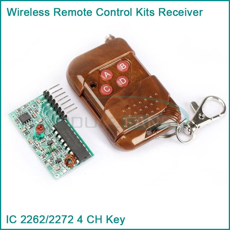 IC 2262/2272 4 CH 315Mhz Key Wireless Remote Control Kits Receiver module For Arduino(China (Mainland))