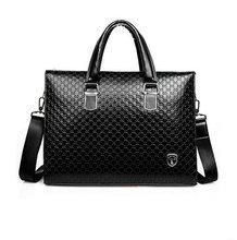Men Leather Briefcase Messenger Bags 14'' Laptop Men Shoulder Business bag Tote carteira masculina fasion men handbags(China (Mainland))