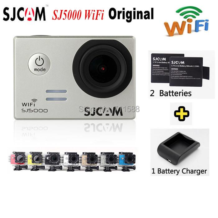 2Batteries+ 1Charger Original SJ5000 WIFI SJCAM Action Camera Waterproof Novatek 96655 1080P Full HD Helmet Sport DV - Shenzhen VIP Electronic CO., LTD store