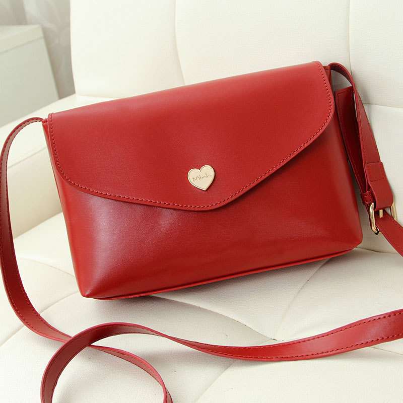 CoCo Hot Sale Heart Women Leather Handbags Cross Body Shoulder Bags Fashion Messenger Bags  Small Women Bags(China (Mainland))