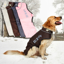 Buy Large Medium Pet Dog Winter Warm Clothes Skiing Clothing Wear Snowsuit Pet Apparel Warm Coat Jacket Big Dog Pet Products for $9.71 in AliExpress store