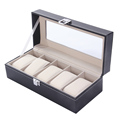 5 Grid Luxury Refinement Slots Watches Display Case Jewelry Collection Storage Organizer Boxes relogio masculino