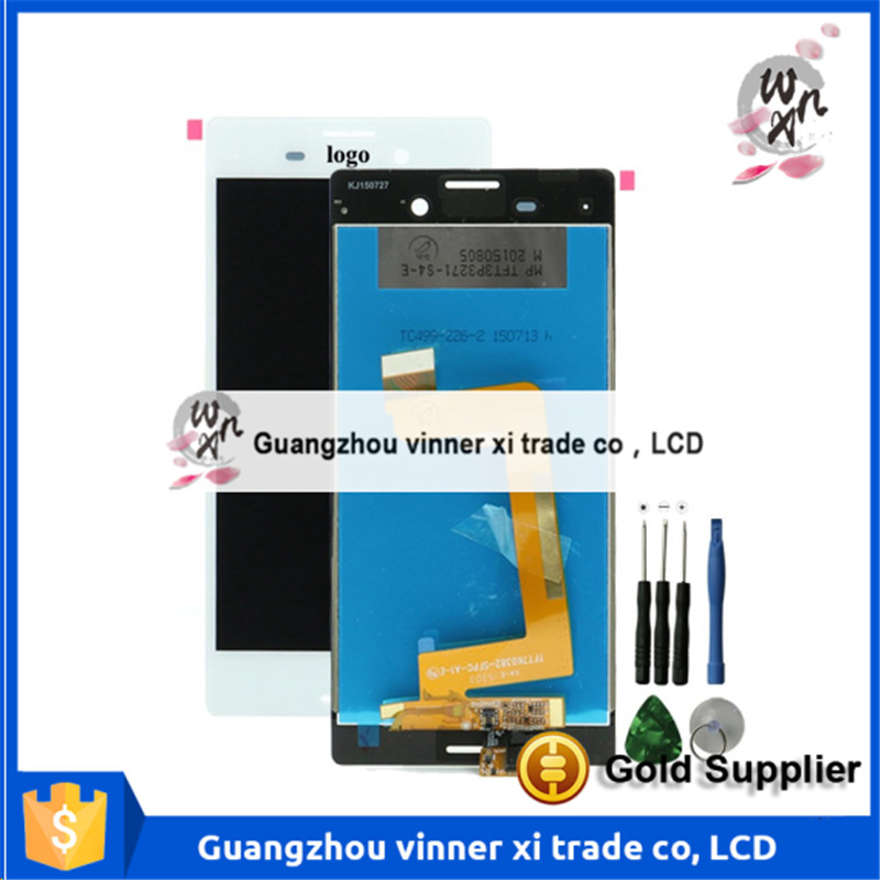 Original LCD Display Touch Screen Digitizer Full Assembly Replacement Parts For Sony Xperia M4 Aqua E2303 E2333 E2353(China (Mainland))