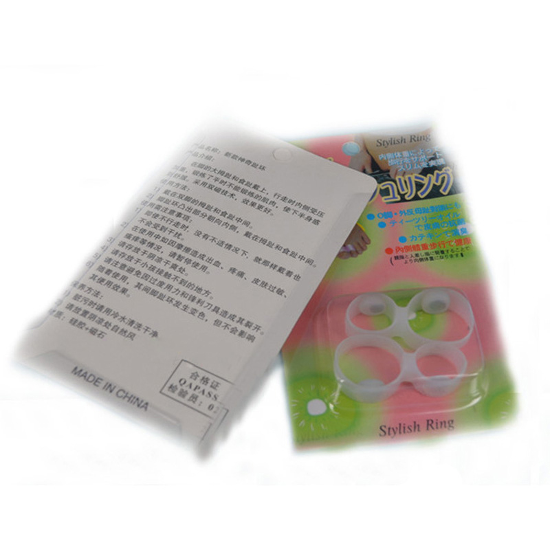 1pair Soft Silicone Magnetic Toe Ring Keep Slim Fitness Weight Loss Health Diet New Foot Care(China (Mainland))