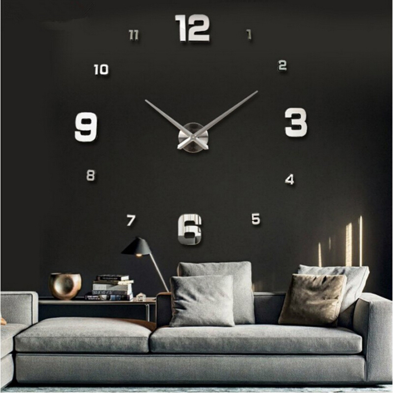 2015 special large diy quartz 3d wall clock Living Room big acrylic watch mirror stickers modern design home decor free shipping(China (Mainland))