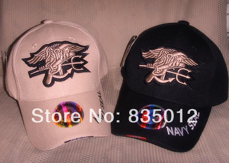 Cotton 100% Tactical Military outdoor Baseball Navy Seals cap/Sports cap Black & Tan Color 1Lot/