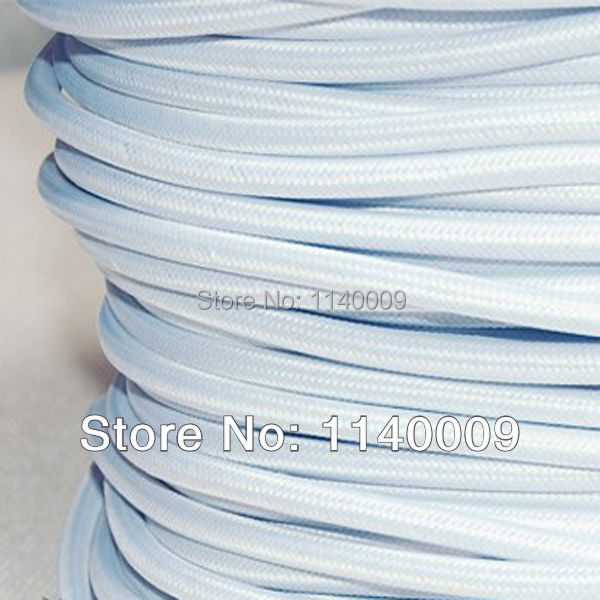 50m/lot DHL Free Shipping 2x0.75mm2 Edison Lamp Wire Textile Color Braided Wire Fabric Power Cord Wire Cable(China (Mainland))